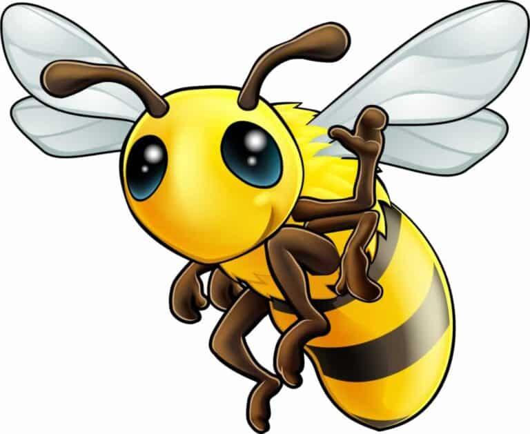 Friendly Honeybee Waving